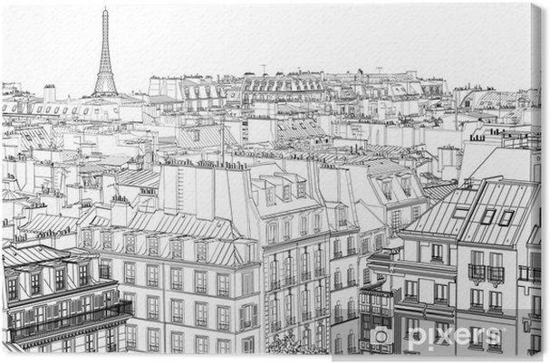 Tableau sur toile Les toits de Paris - Styles