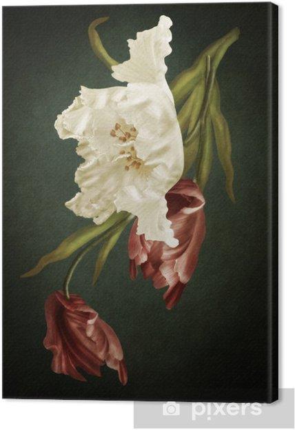 Tableau sur toile Les tulipes - Fleurs