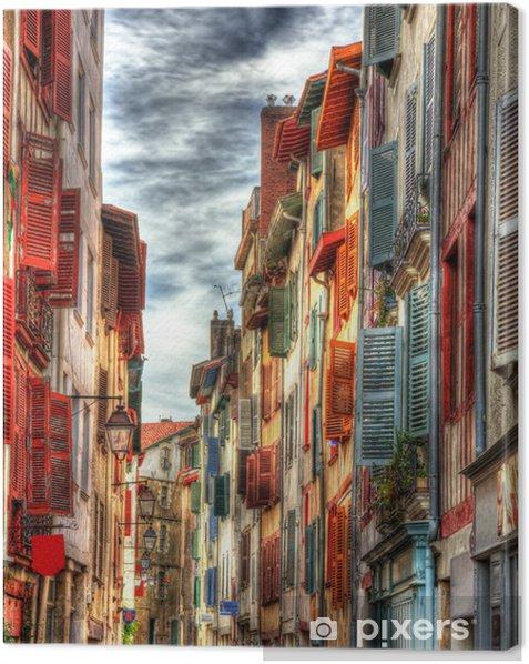 Tableau sur toile Les vieux bâtiments de la ville de Bayonne - France, Aquitaine - Thèmes