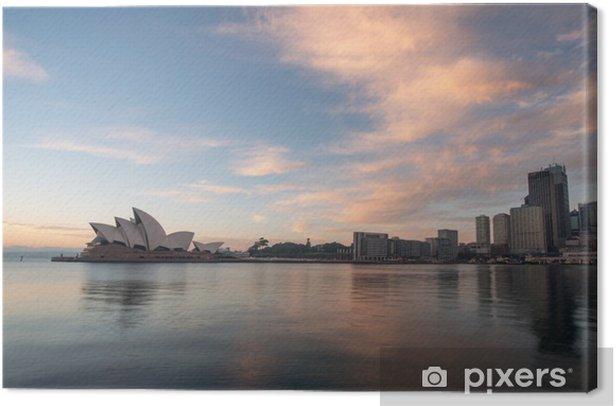 Tableau sur toile Lever de soleil à Opéra historique de Sydney, Australie - Thèmes