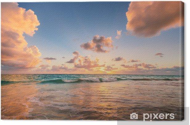 Tableau sur toile Lever de soleil sur la plage de la mer des Caraïbes - Styles