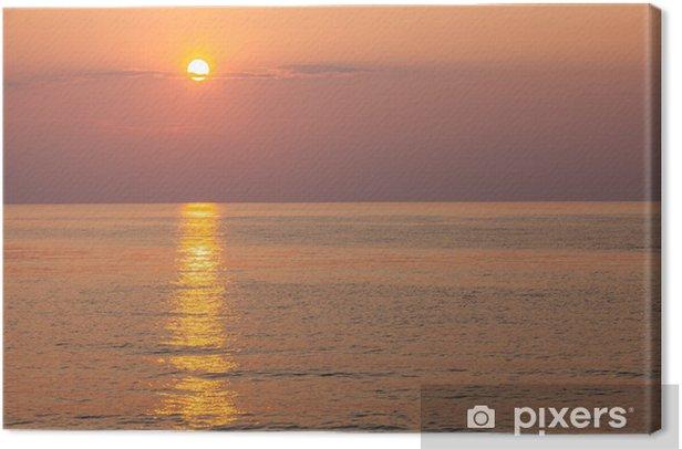Tableau sur toile Lever du soleil à la mer - Eau