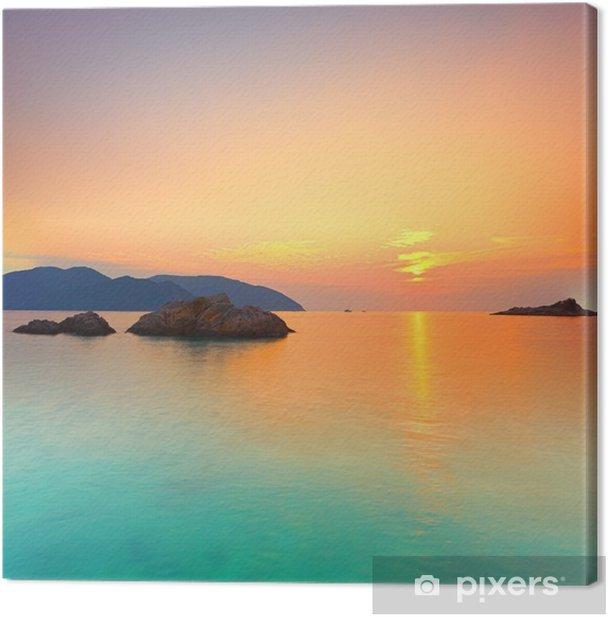 Tableau sur toile Lever du soleil - Styles