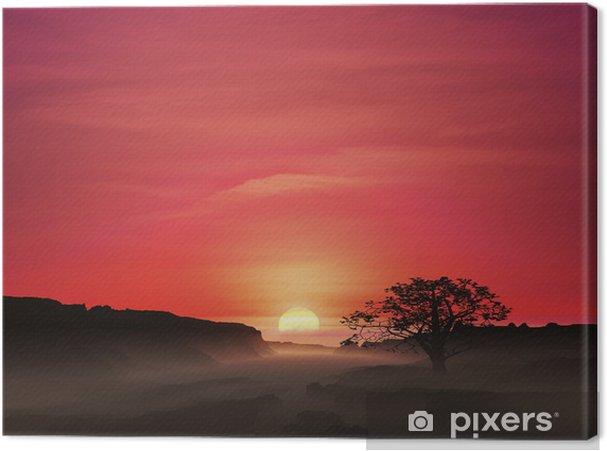 Tableau sur toile Lever du soleil - Ciel