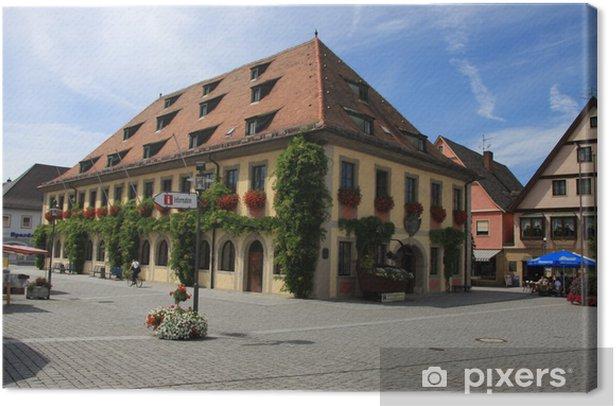 Tableau sur toile Lichtenfels Marktplatz - Paysages urbains