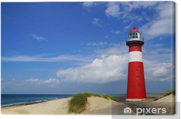 Tableau sur toile Lighthouse. Westkapelle, Pays-Bas - Phare