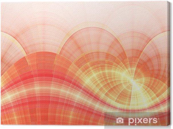 Tableau sur toile Lignes de fractale incurvées or et brillant, illustration numérique - Émotions et sentiments