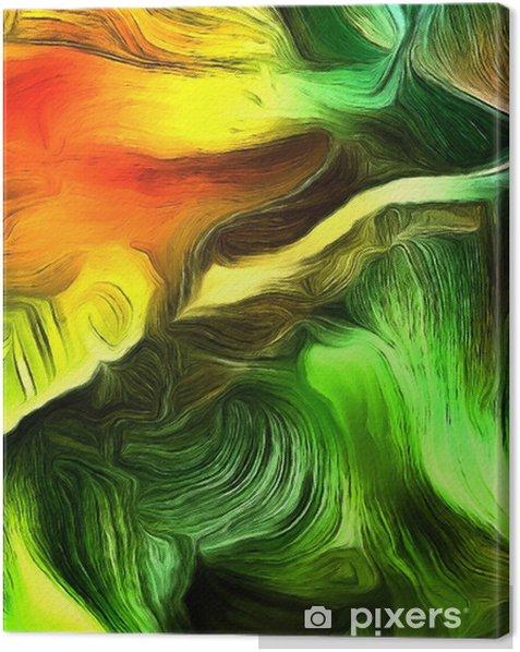 Tableau sur toile Lignes fluides de mouvement de la couleur - Ressources graphiques
