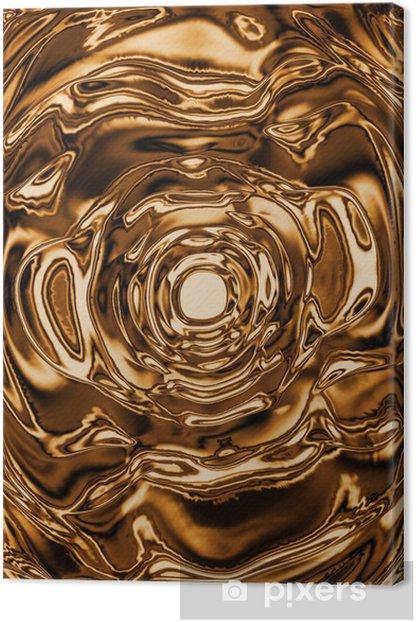 Tableau sur toile Liquide fond d'or - Réussite
