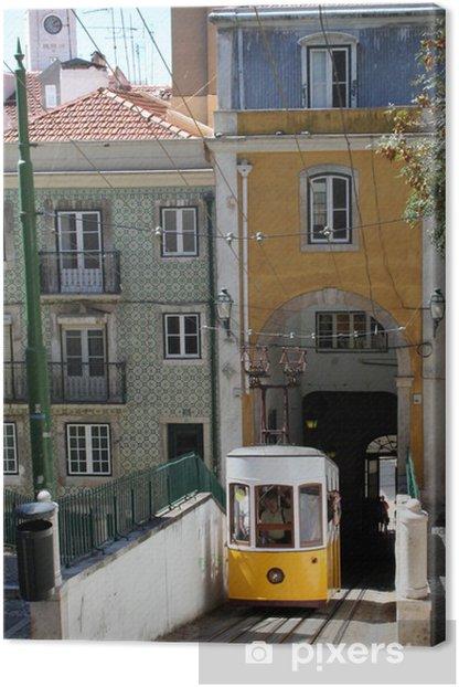 Tableau sur toile Lisbonne - Ascenseur da Bica - Villes européennes