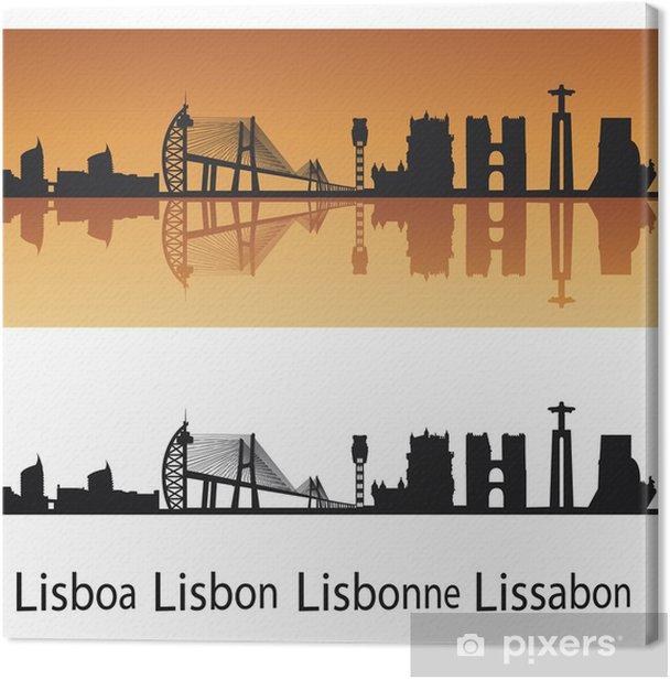 Tableau sur toile Lisbonne horizon - Villes européennes
