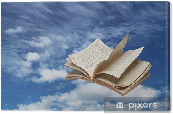 Tableau Sur Toile Livre Ouvert Sur Le Ciel Bleu Vol