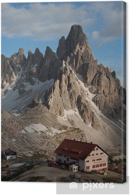 Tableau sur toile Locatelli cabane et montagne Paterno (Dolomites) - Europe