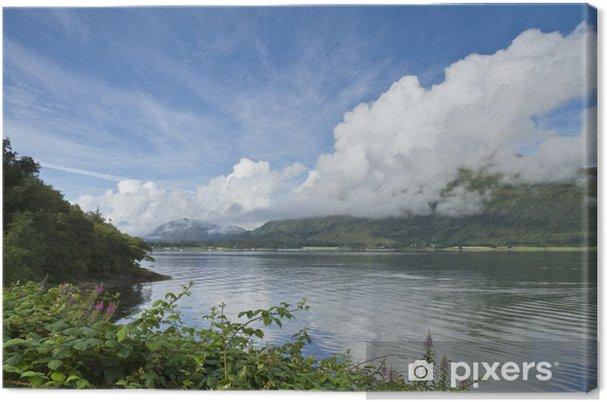 Tableau sur toile Loch Linnhe Nuages - Vacances