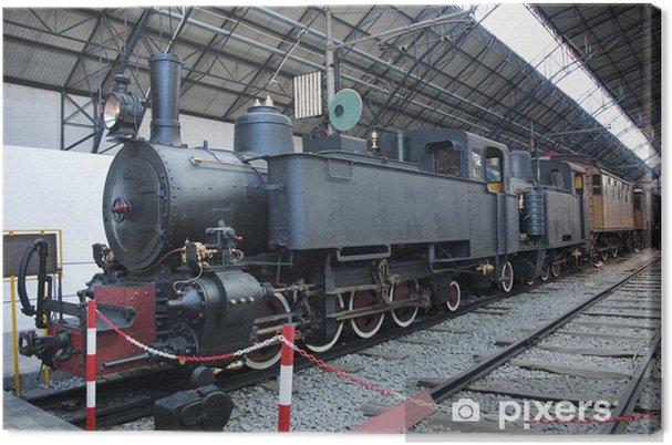 Tableau sur toile Locomotive à vapeur - Thèmes