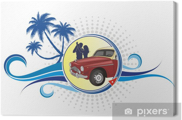 Tableau sur toile Logo Cuba - Amérique