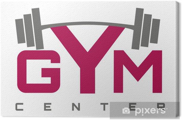 Tableau sur toile Logo de la salle de sport