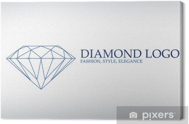 Tableau sur toile Logo de luxe, diamant logotype - Mode