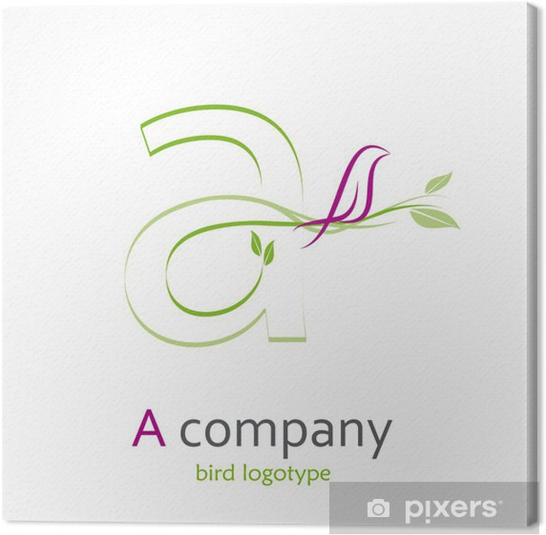 Tableau sur toile Logo lettre A, avec l'oiseau # Vecteur