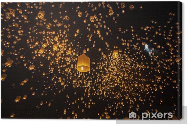 Tableau sur toile Loi Krathong et Yi Peng Festival, Chiangmai, Thaïlande - Asie