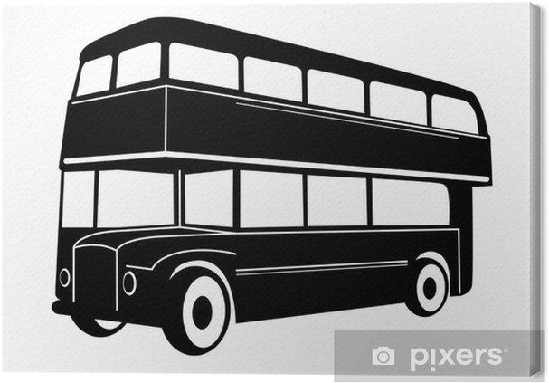 Tableau sur toile London double Decker rouges autobus - Sur la route