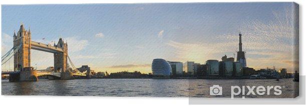 Tableau sur toile London Tower Bridge Panorama - Thèmes