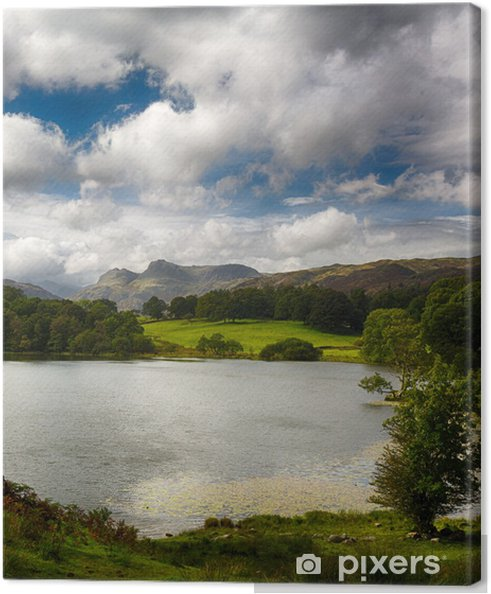 Tableau sur toile Loughrigg Tarn à Lake District - Europe