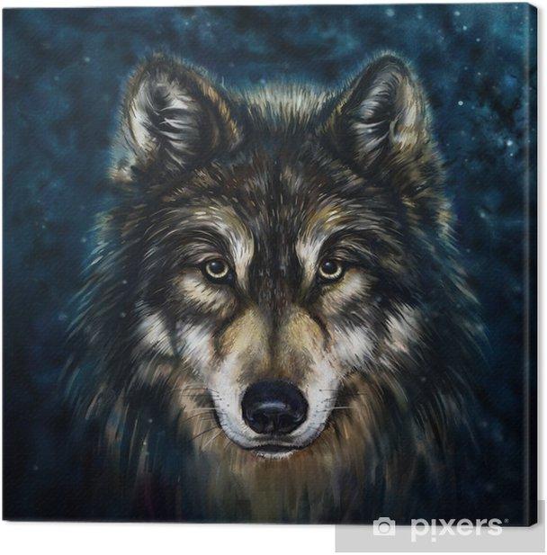 Tableau sur toile Loup avant - Husky