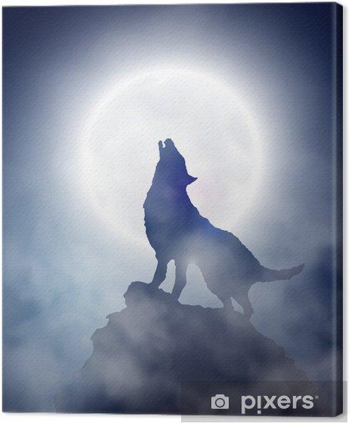 Tableau sur toile Loup hurlant - Thèmes