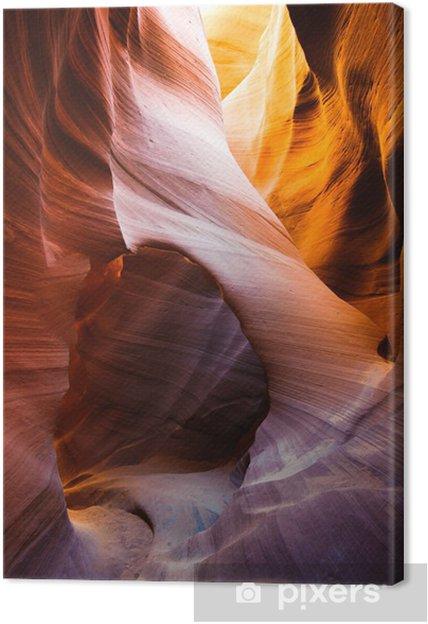 Tableau sur toile Lower Antelope Slot Canyon, réserve Navajo, Page, Arizona, U - Désert