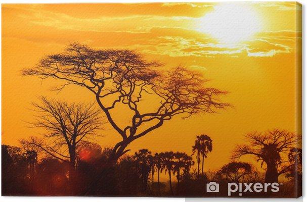 tableau sur toile lueur orange d 39 un coucher de soleil. Black Bedroom Furniture Sets. Home Design Ideas