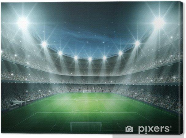 Tableau sur toile Lumière du Stade - Football Américain