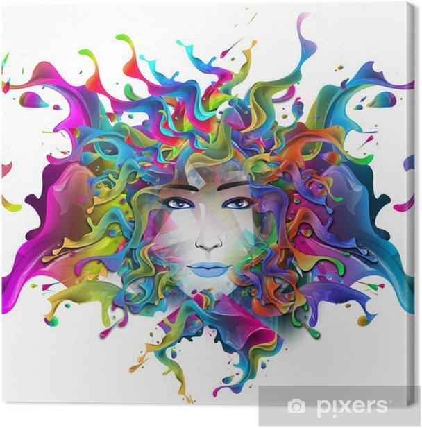 Tableau sur toile Lumineux fond abstrait - Femmes