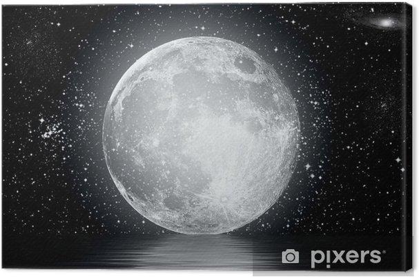 Tableau sur toile Lune - Étoiles