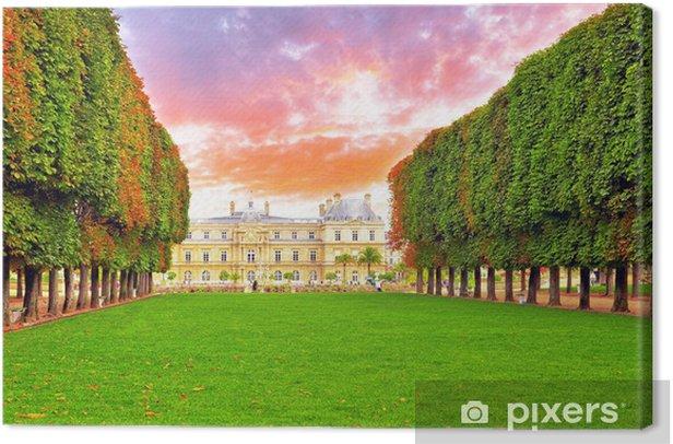 Tableau sur toile Luxembourg Palase à Paris, France. - Villes européennes
