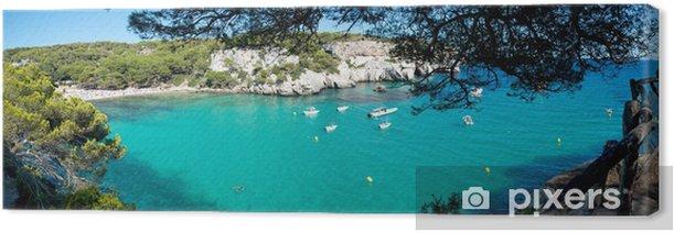 Tableau sur toile Macarella plage de Minorque, Espagne - Îles