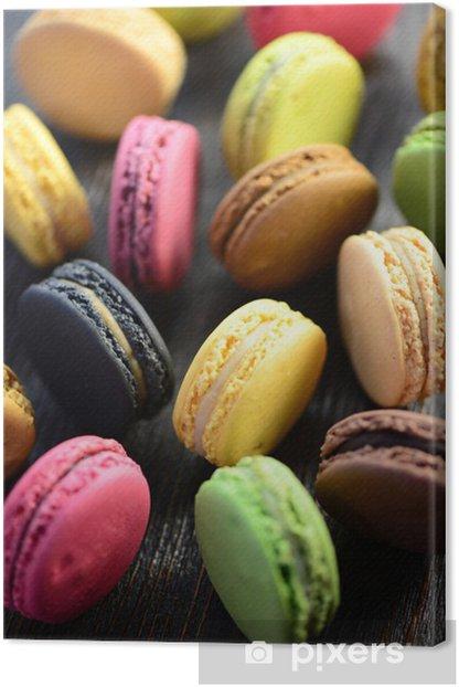 Tableau sur toile Macarons Bunte - Repas