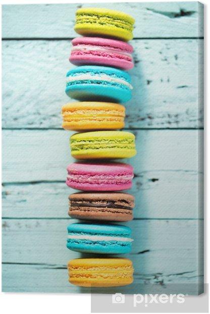 Tableau sur toile Macarons français - Thèmes