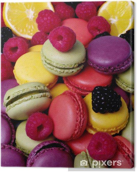 Tableau sur toile Macarons -