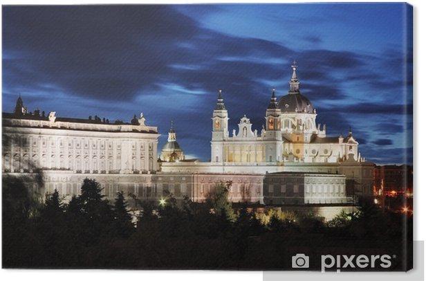 Tableau sur toile Madrid, la cathédrale Almudena et le Palais Royal - Espagne - Thèmes