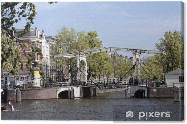 Tableau sur toile Magere Brug 1, Amsterdam - Villes européennes