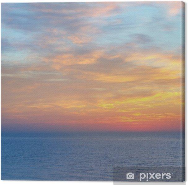 Tableau sur toile Magnifique coucher de soleil au-dessus de la mer - Eau