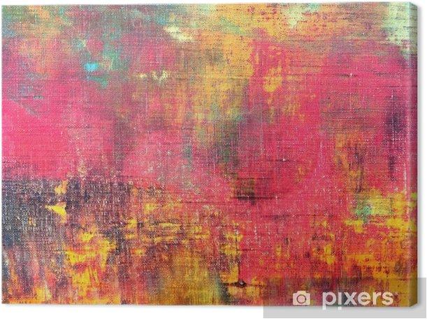 Tableau sur toile Main abstrait coloré toile peinte fond texture - Passe-temps et loisirs