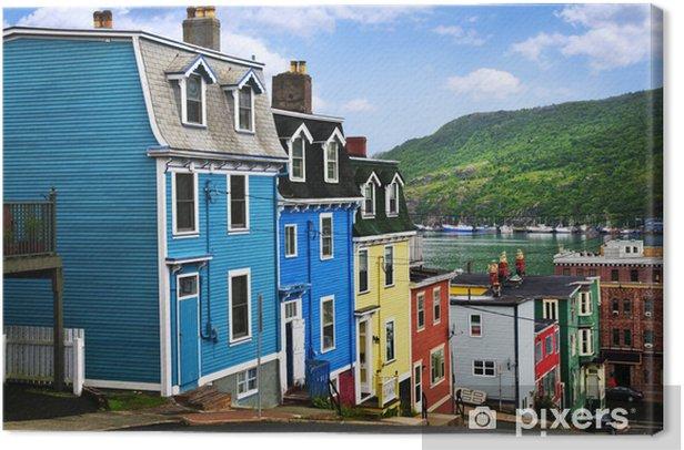 Tableau sur toile Maisons colorées dans Saint-Jean - Infrastructures