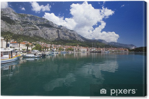 Tableau sur toile Makarska ville - Thèmes