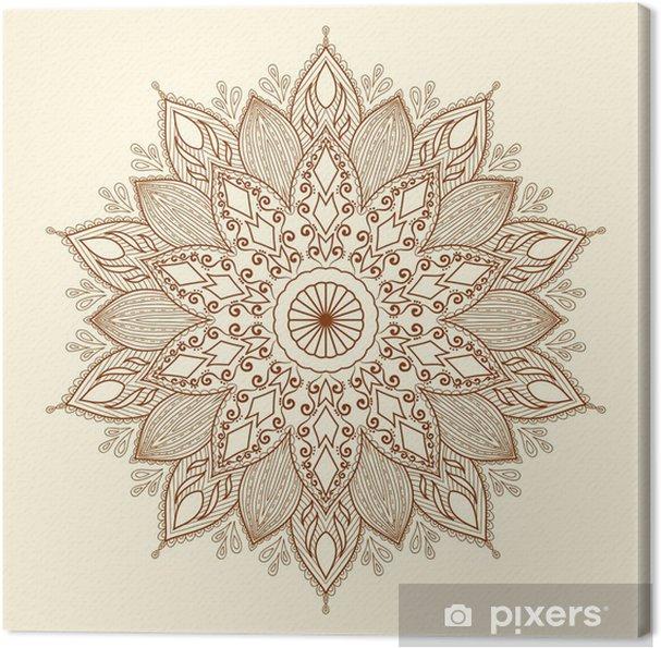 Tableau sur toile Mandala. Belle dessinés à la main fleurs. - Styles