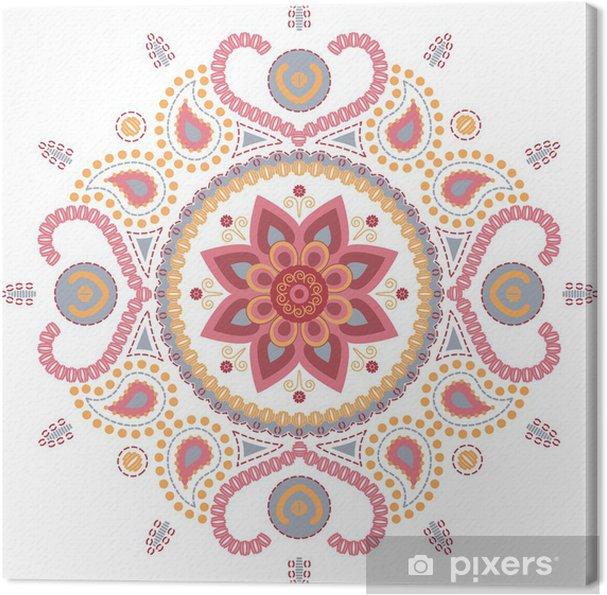 Tableau sur toile Mandala de lotus papier peint - Religion