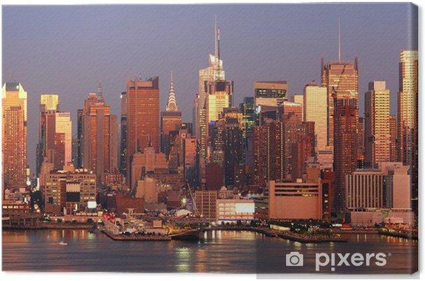 Tableau sur toile Manhattan coucher du soleil - Amérique
