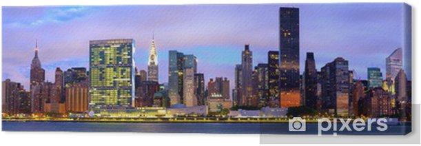Tableau sur toile Manhattan Midtown skyline panorama avant le lever du soleil, New York - Thèmes