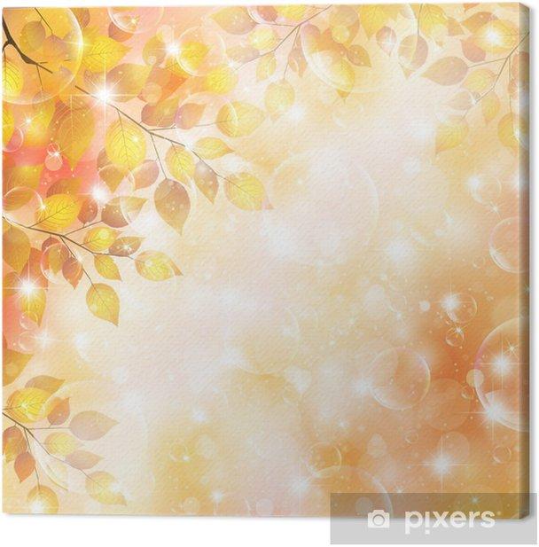 Tableau sur toile Maple feuilles d'automne fond - Évènements nationaux